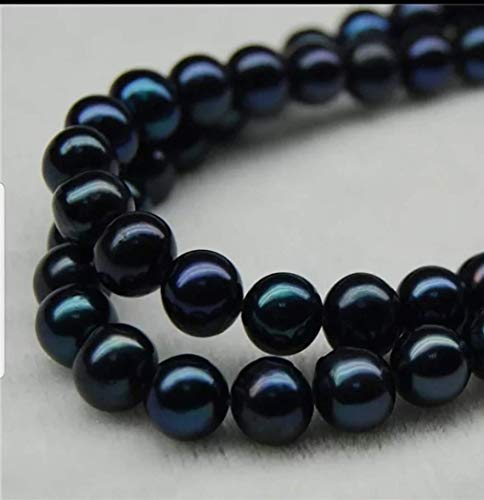 10 pieces Freshwater Black Pearl beads for jewelry making. 8.5 mm Genuine Tahitian green black pearl. from Uniquelan Jewelry