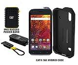 CAT S61 Single SIM 64GB Unlocked Smartphone with 10,000mAh Rugged Power Bank & CAT S61 Hybrid Case -...
