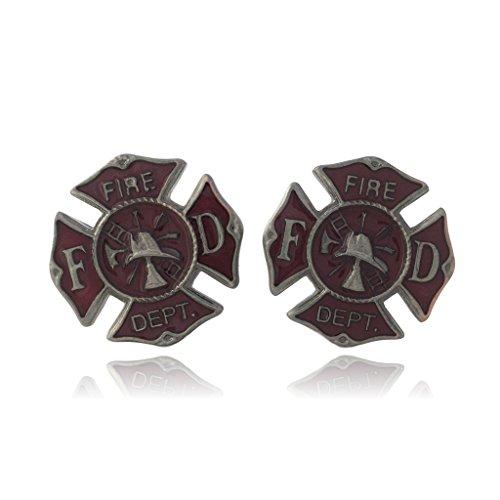 COS (TM) Fire Fighter Emblem Cuff Links (Emblem Cufflinks)