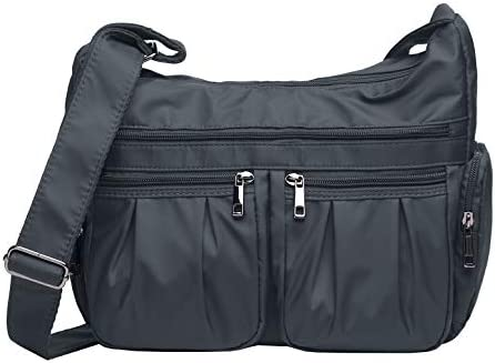 Crossbody Bags For Women Multi Pocket Shoulder Bag Waterproof Nylon Travel Purses And Handbags Lightweight Work Bag Size One Size Amazon Com Au Fashion