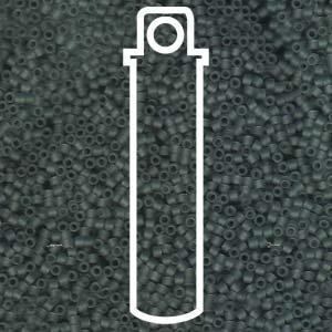 Matte Transparent Grey (Db749) Delica Myiuki 11/0 Seed Bead 7.2 Gram Tube Approx 1400 - Seed Grey