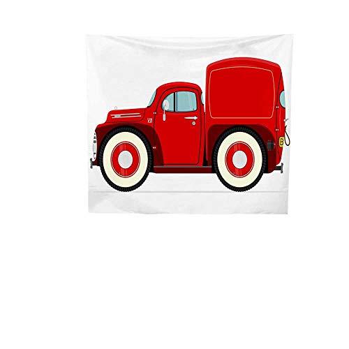 Sunset glow Wall Tapestry Cartoon.jpg Pickup.jpg Truck.jpg Colorful Tapestry 63W x 63L -
