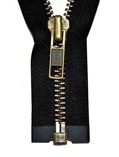 Ykk cremallera 2 vías divisible 5mm negro 90 cm de metal dientes de metal