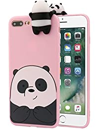 iPhone 8 Plus Case, 3D Cartoon Animals Cute Bare Bears Soft Silicone Case Skin For iPhone 8 Plus 5.5 Inch