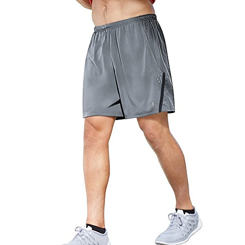 Champion Men's Performax Marathon Running Short, Concrete/Stealth, Large (Pant Vapor Insulated)