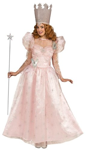 Rubie's Costume Wizard Of Oz Deluxe Adult Glinda The Good Witch with Dress and Crown, Pink, Adult One (Glinda The Good Witch Costume Crown)