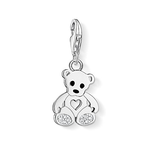 (Thomas Sabo Pendant Teddy Bear with Heart Clasp Style Charms)
