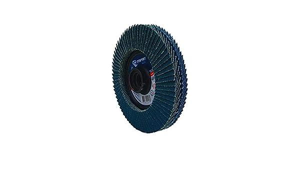 5//8-11 Arbor 4-1//2 OD 5//8-11 Arbor 4-1//2 OD 60//80 Grit Depressed Taipan Abrasives TP-5840  Zirconia Platinum Twin Flap Disc