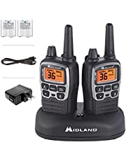 Midland 36 Channel/38 Mile Two Way Radio with 121 Codes, with X Scan-Alert, Battery, Rapid Charge DTC and USB (T71VP3)