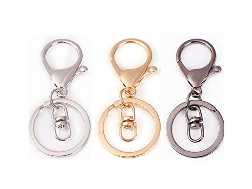 LanDream Charm Keyring Lobster Claw Clips Rose Gold Keyring Trigger Clip Keychains Simple Crafts Accessories for Women and Men/_Rose Gold