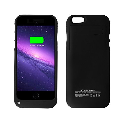 3500mAh Extended Portable Rechargeable iPhone6 Black02 product image