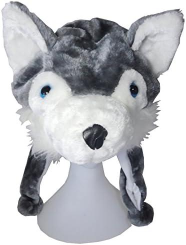 なりきり 衣装 アニマル 帽子 被り物 ダルメシアン ウサギ ペンギン オオカミ (オオカミ)