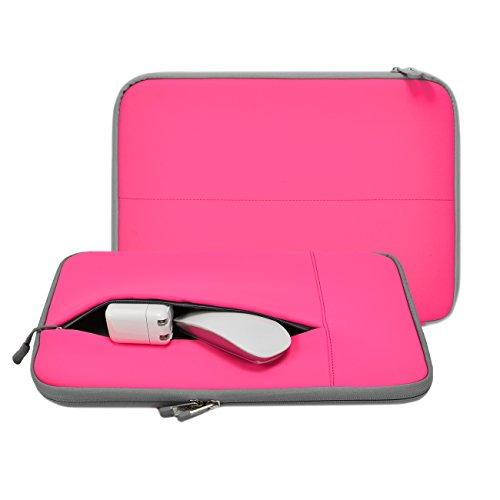 "Unik Case - Neoprene Hot Pink Zipper Laptop Sleeve Bag Cover for All 13"" 13-Inch Laptop Notebook / Macbook Pro / Macbook Air / Ultrabook / Chromebook - Hot Pink"