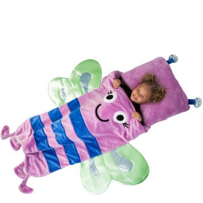 Kids plush sleeping bag with pillow (Butterfly)