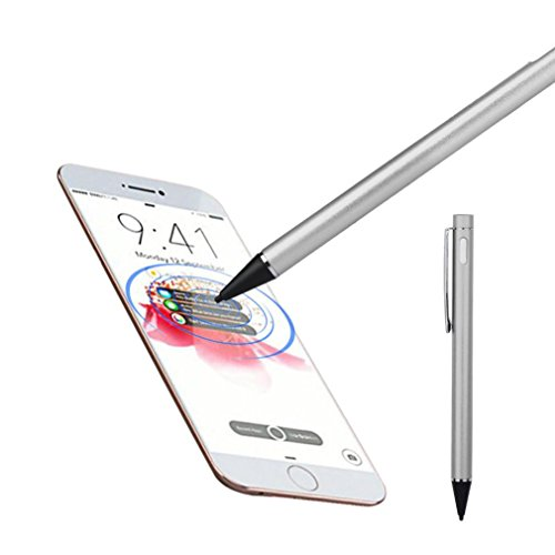 Price comparison product image GBSELL Screen Touch Pen Stylus With USB Charging Wire For iPhone 6 / 6s Plus 7 / 7s Plus (Sliver)