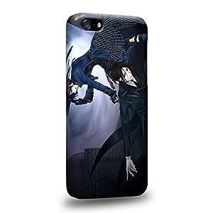 Case88 Premium Designs Black Butler Ciel Phantomhive Sebastian Michaelis Demon Butler 1520 Protective Snap-on Hard Back Case Cover for Apple iPhone 5C