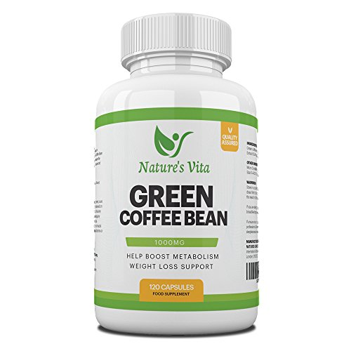 Green Coffee Bean Maximum Strength 1000mg Extract 50% Chlorogenic Acid – All Natural Weight Loss for Women & Men w…