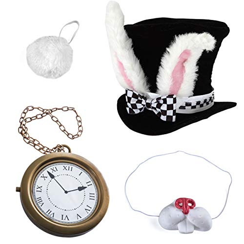 White Rabbit Costume - Rabbit Costume - Bunny Costume (4 Pc Costume) by -