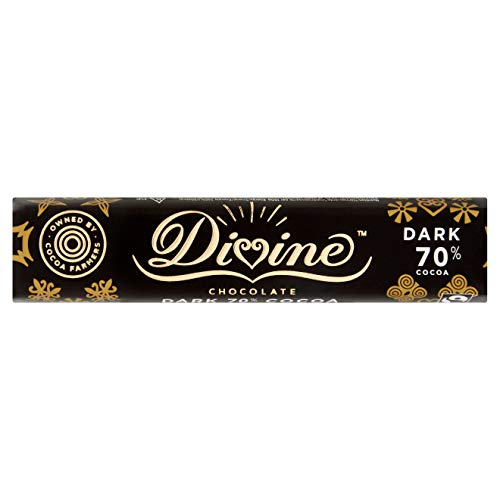 Divine Chocolate Divine 70% Dark Chocolate 35g(Pack of 30)