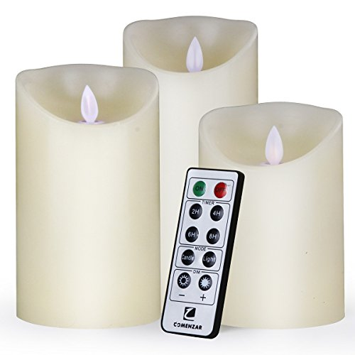 comenzar flameless Candles, led Candles Set of 3(Battery not Include)