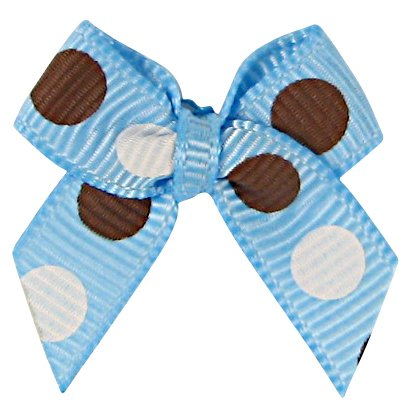 Bow Tie, Polka Dot Ribbon, HipGirl 20pc Ribbon Applique Embellishment for Crafts, DIY Hair Bow Clips, Christmas Cards, Scrapbooks, 1