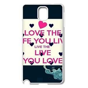 Love the life you live live the life you love phone case cover for Samsung Galaxy Note 3 case TSL221166