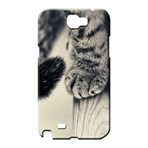 samsung note2 Highquality High Grade Cases Covers For phone phone back shells animals cats cat paws