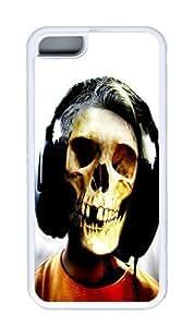 IMARTCASE iPhone 5C Case, Skeleton Music Dj Headphones Case for Apple iPhone 5C hard - White 5268055M96641197