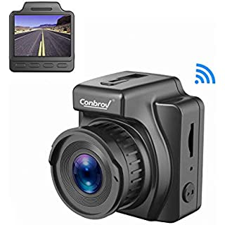 Discount Car Dash Cam 1.5' Full HD 1080P Dashboard Camera Mini Dash Camera for Cars with Color Night Vision WiFi GPS G-Sensor Parking Monitoring and WDR Superior Video SD Card Not Included