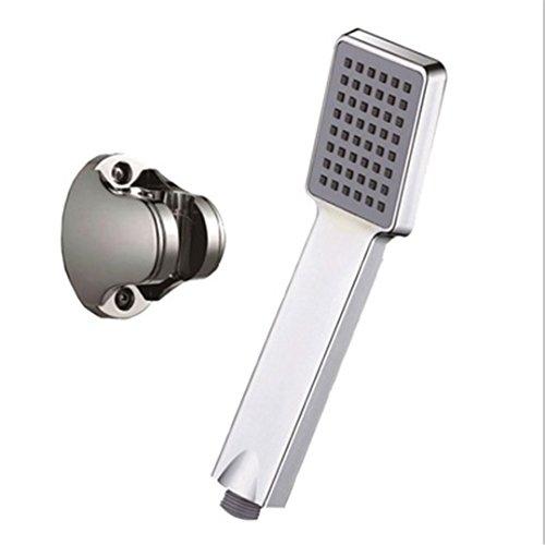 HANGESA Bathroom Shower Set ABS Chrome Wall Mounted Shower Head Water Saving High Pressure Shower Head With Wall Bracket And 150Cm Hose With Bracket