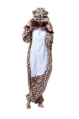 Unisex Adult Animal Cosplay Pajamas kigurumi Sleepwear Onesies Sleepwear Set (XL(Height:178-188cm/71-74in), Leopard Bear)