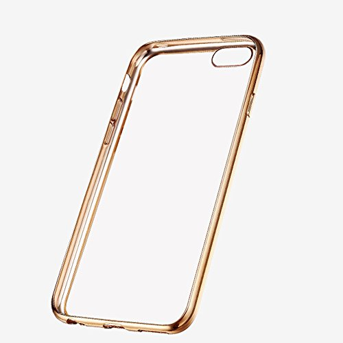 CAOLATOR IPhone7Plus Teléfono Shell 7Plus Plating Tpu Teléfono Shell Inalámbrico Suave Cubierta Protectora IPhone7Plus(Oro terrestre) gris