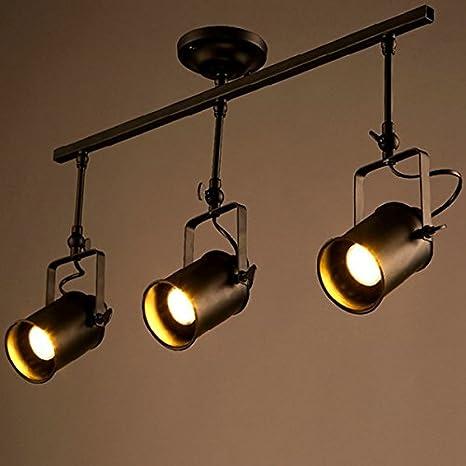 cabeza LED techo loft Vintage de Nuevo Triple foco XOZPkiu