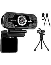 Webcam USB Full HD 1080P Microfone Embutido Webookers WB Amplo Ângulo 110° + Tripé