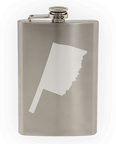State of Oklahoma Etched 8oz Stainless Steel Flask]()