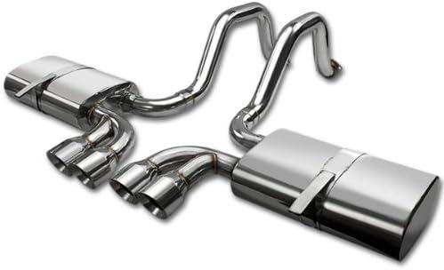 DNA Motoring CBE-STC04-T2-BT Round Burnt CBESTC04T2BT Stainless Steel Catback Exhaust System