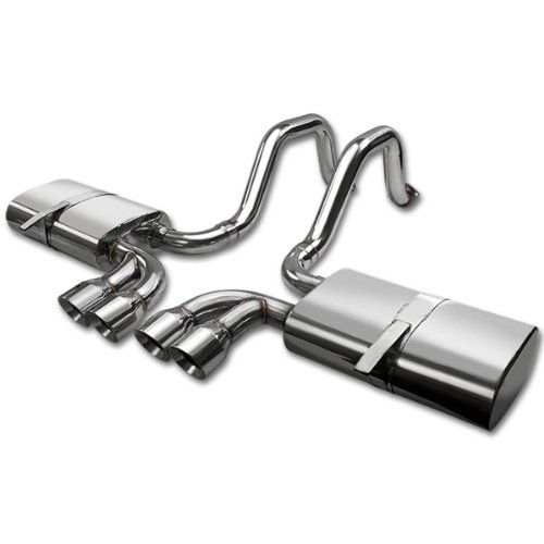 DNA Motoring CBECC97LS16 Stainless Steel Catback Exhaust System [For 97-04 Chevy Corvette C5 LS1 LS6 5.7L V8 ()