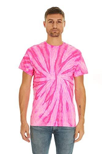 Krazy Tees Tie Dye T-Shirt, Neon Bubblegum,2X