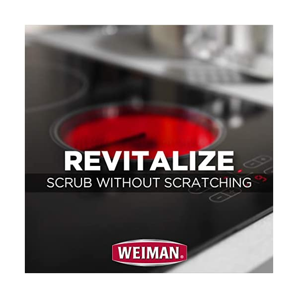 Weiman Cooktop Cleaner Kit - Cook Top Cleaner and Polish 10 oz. Scrubbing Pad, Cleaning Tool, Cooktop Razor Scraper 6