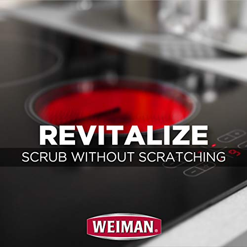 Weiman Cook Top Scrubbing Pads, 18 Count, 6 Pack Cuts Through the Toughest Stains - Scrubbing Pads Carefully Wipe Away Residue by Weiman (Image #5)