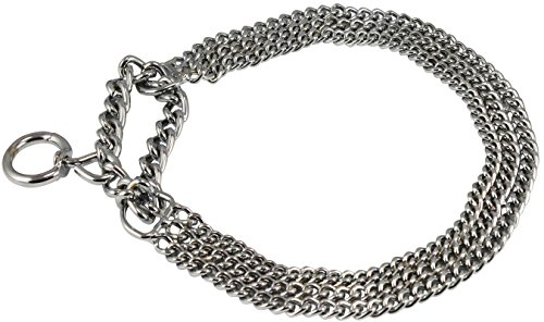 Picture of Triple Chain Martingale Dog Collar 2.5mm Link Chrome (23