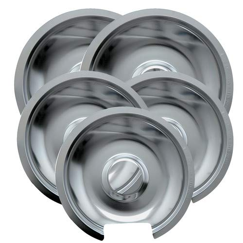 - OKSLO 5 piece cooktop style d hinged electric range drip pan set