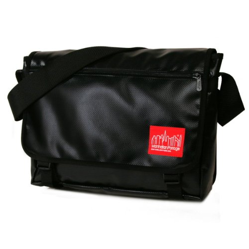 manhattan-portage-vinyl-europa-messenger-bag-black