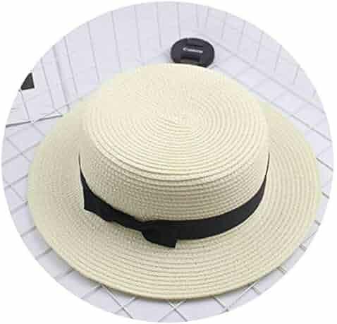 296e91da0d3af Fashion Parent-Child Sun hat Cute Children Sun Hats Bow Hand Made Women  Straw Cap