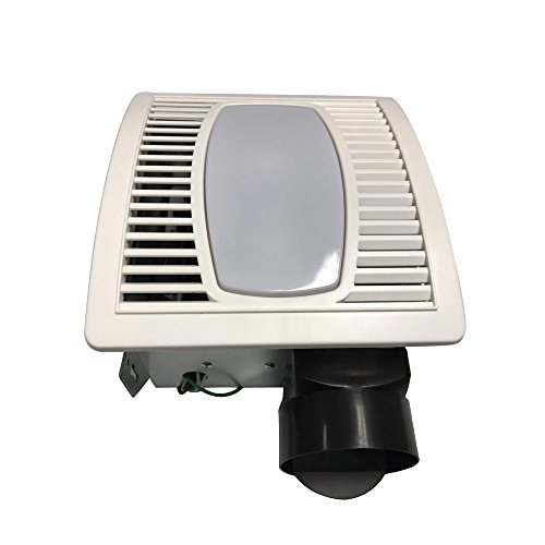 sed Exhaust Ventilation Fan 4.0 Sones, 70 CFM with Fluorescent Light Ceiling Mounted Fan White ()