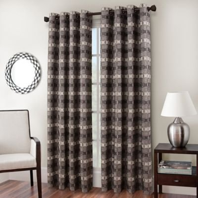 Kensington Home Fashions Cadence 84in grommet curtain panel, (Kensington Slate)