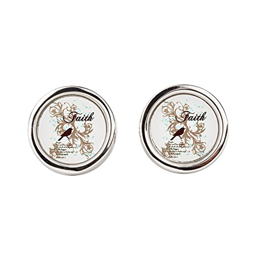 Price comparison product image Cufflinks (Round) Faith Prayer Dove Christian Cross
