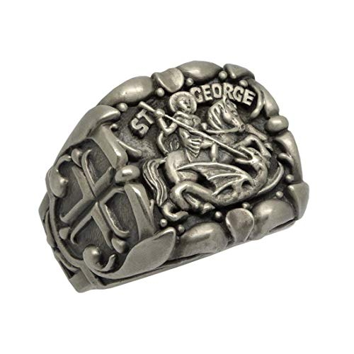 Ring George St - Saint St. George Roman Soldier handcrafted Sterling Silver 925 men's ring, Custom made