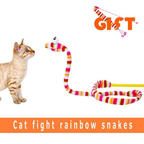 lesotc Cat Toys, 2PCS Cat Toys Wand, Kitten Toys, Cat Toy Ribbon