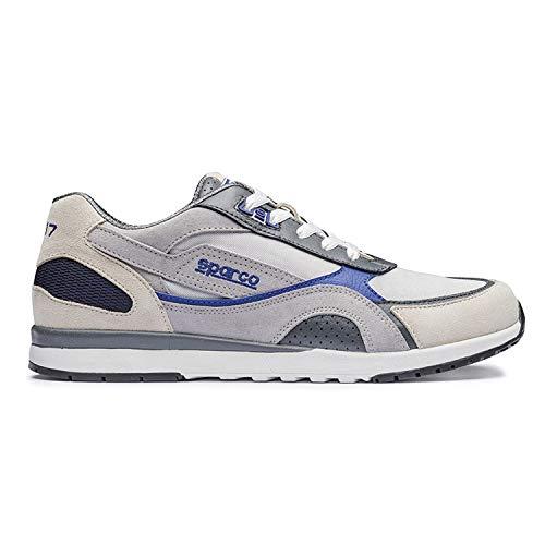 - Sparco 00126243siaz SH-17Shoes, Silver/Blue